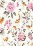 Kyoto Koi White Pink Wallpaper 98681 By Holden